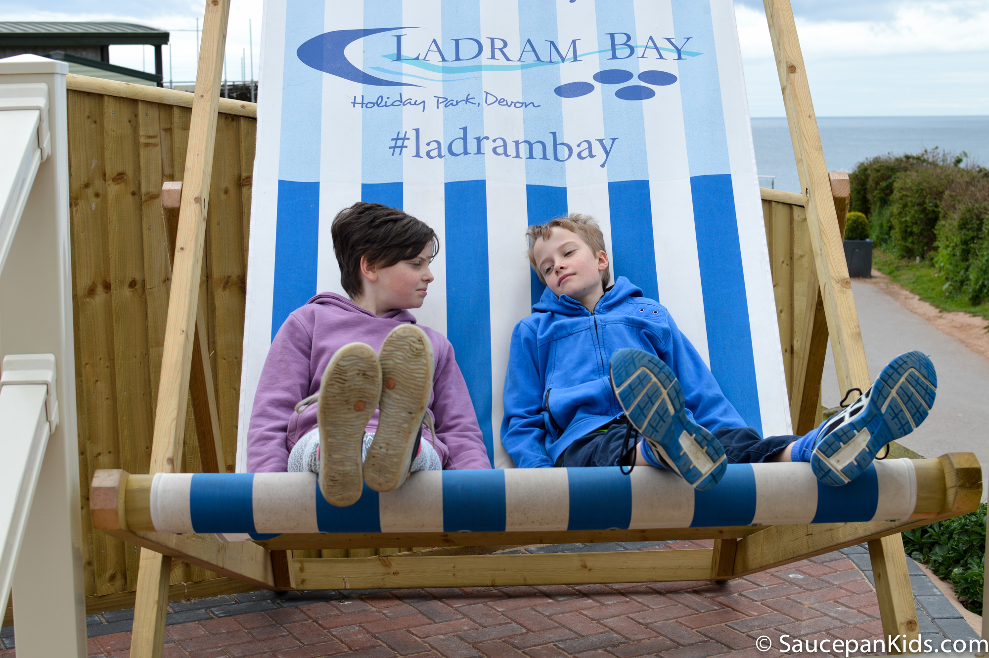 Saucepan Kids enjoying Ladram Bay Holiday Park - family holiday in Devon
