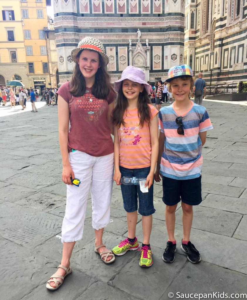 Saucepan Kids after enjoying gelato in Florence, Italy