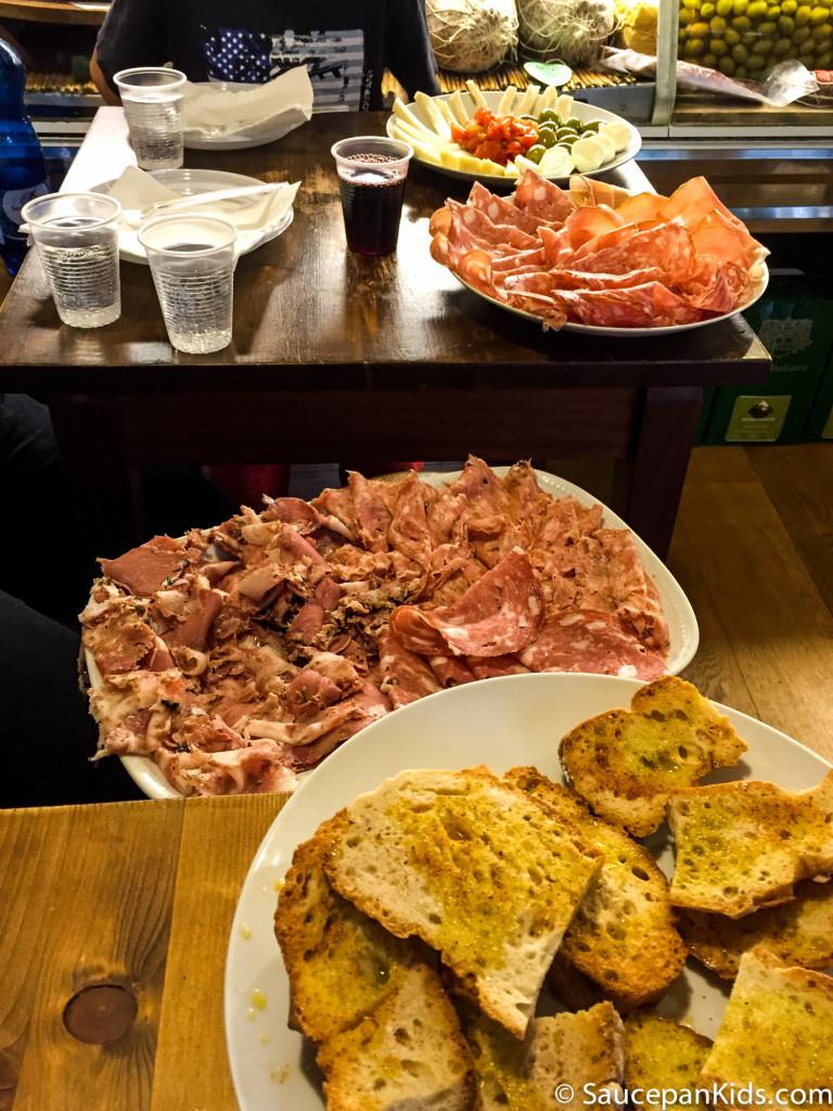 Saucepan Kids enjoying lunch in Florence, Italy