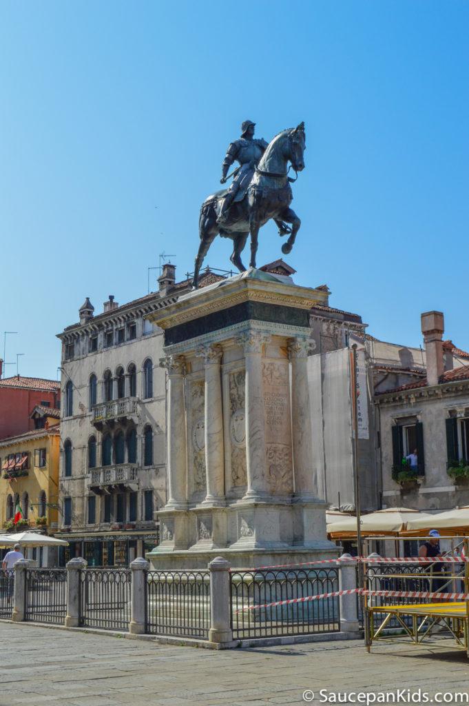 A statue in Venice