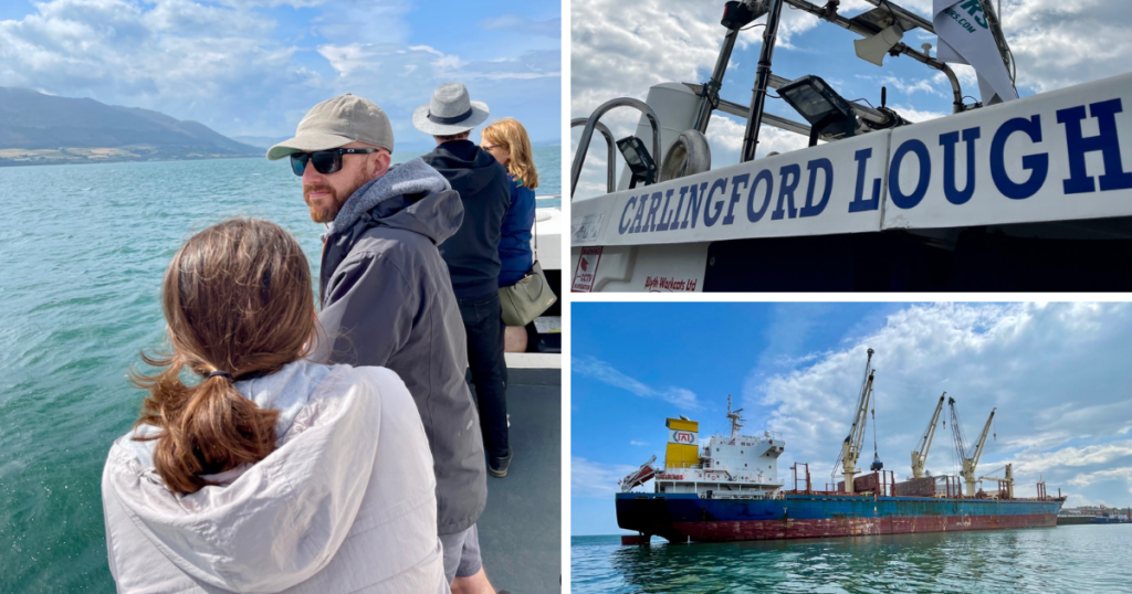 Saucepan Kids visit Carlingford Boat Tours - Fairways Hotel - top things to do with teenagers in Ireland's Ancient East - family time on the water