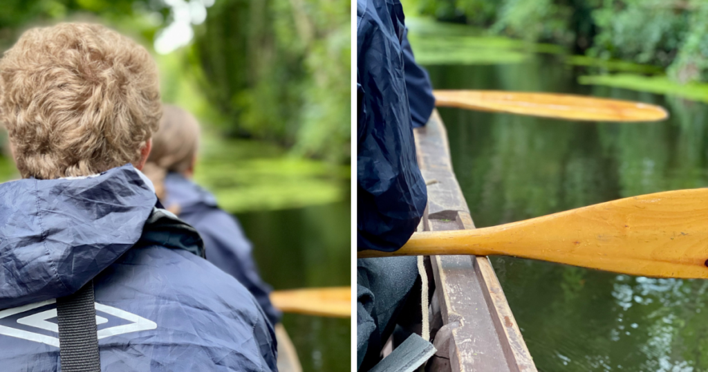 Saucepan Kids visit Boyne Valley - Top things to do with teenagers in the Boyne Valley - Boyne Boats oar close up