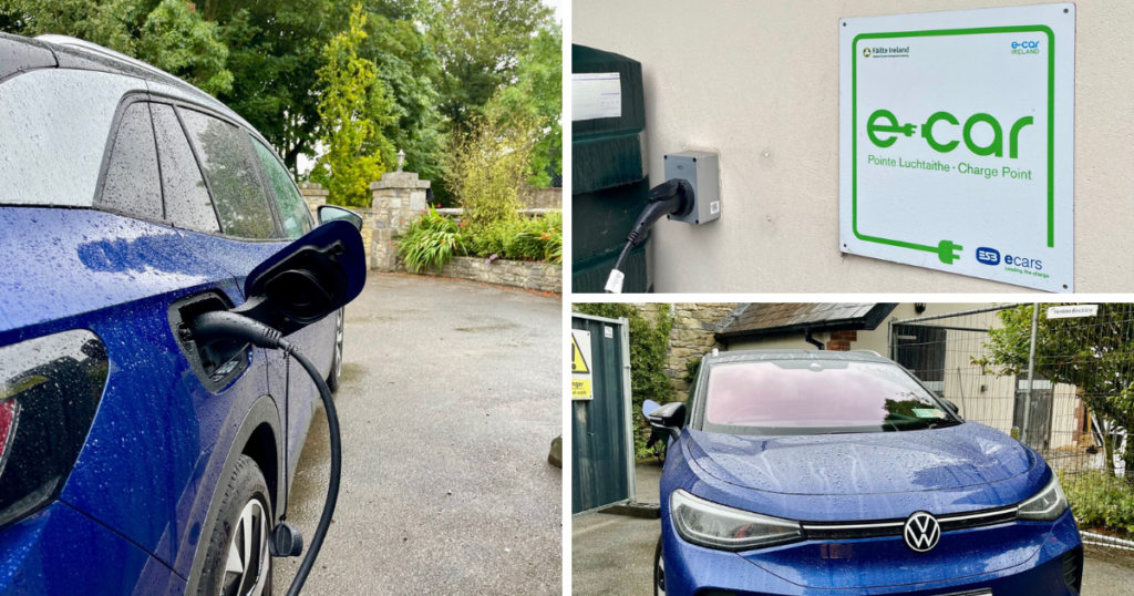 Saucepan Kids visit Boyne Valley - Top things to do with teenagers in the Boyne Valley - Decoy Country Cottages - E car charging