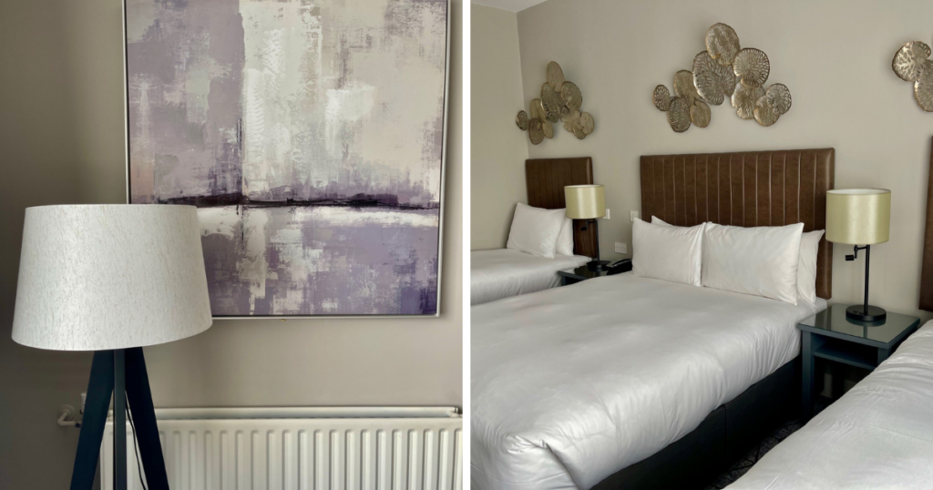 Saucepan Kids visit and review Fairways Hotel INua Collection - Top family friendly hotels in Ireland - Top things to do with teens in Ireland - hotel bedroom