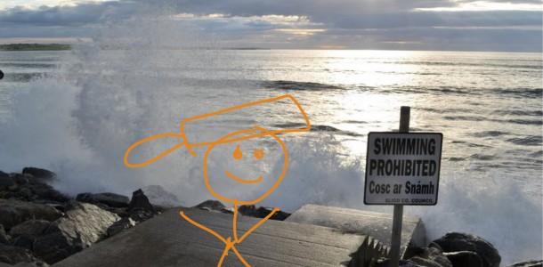 Saucepan Kids watch the waves in Strandhill