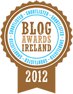 Shortlisted for the 2012 Blog Awards Ireland