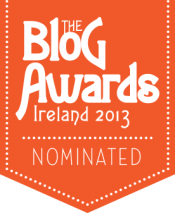 Nominated for an Irish Blog Award 2013