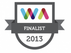 Finalist in Realex Irish Web Awards 2013
