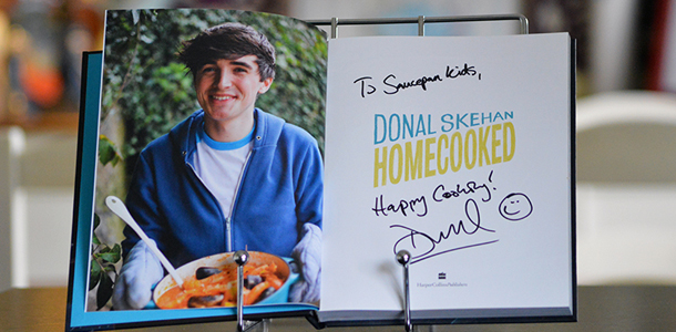 Saucepan Kids signed copy of Donal Skehan's HomeCooked Cookbook