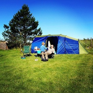 Camping in the garden - things to do with your kids this summer 2014