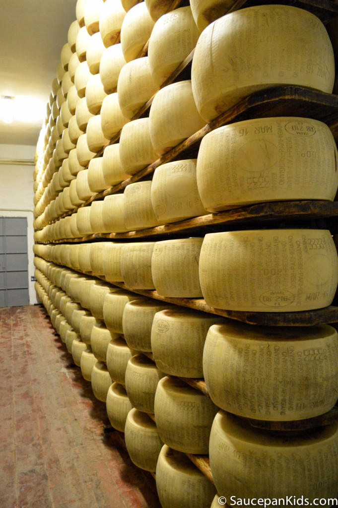 The maturation room - Saucepan Kids visit Emilia Romagna and see how Parmigiano Reggiano is made