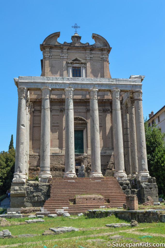 A building in the Roman Forum