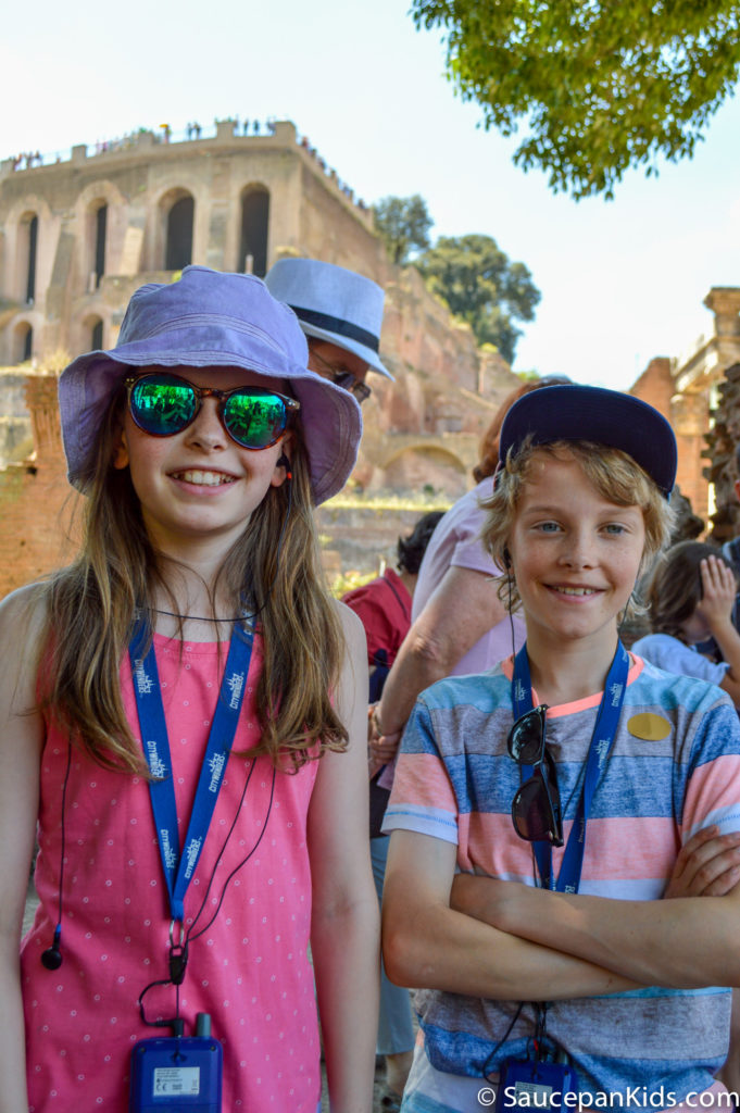 Anna and Fraser enjoying the Roman Forum
