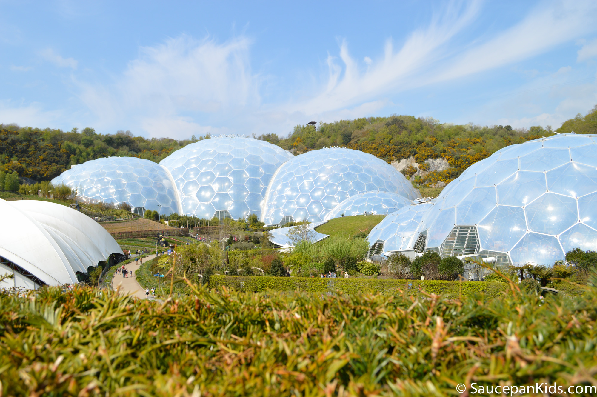 Saucepan Kids review Eden Project Cornwall - The Biomes