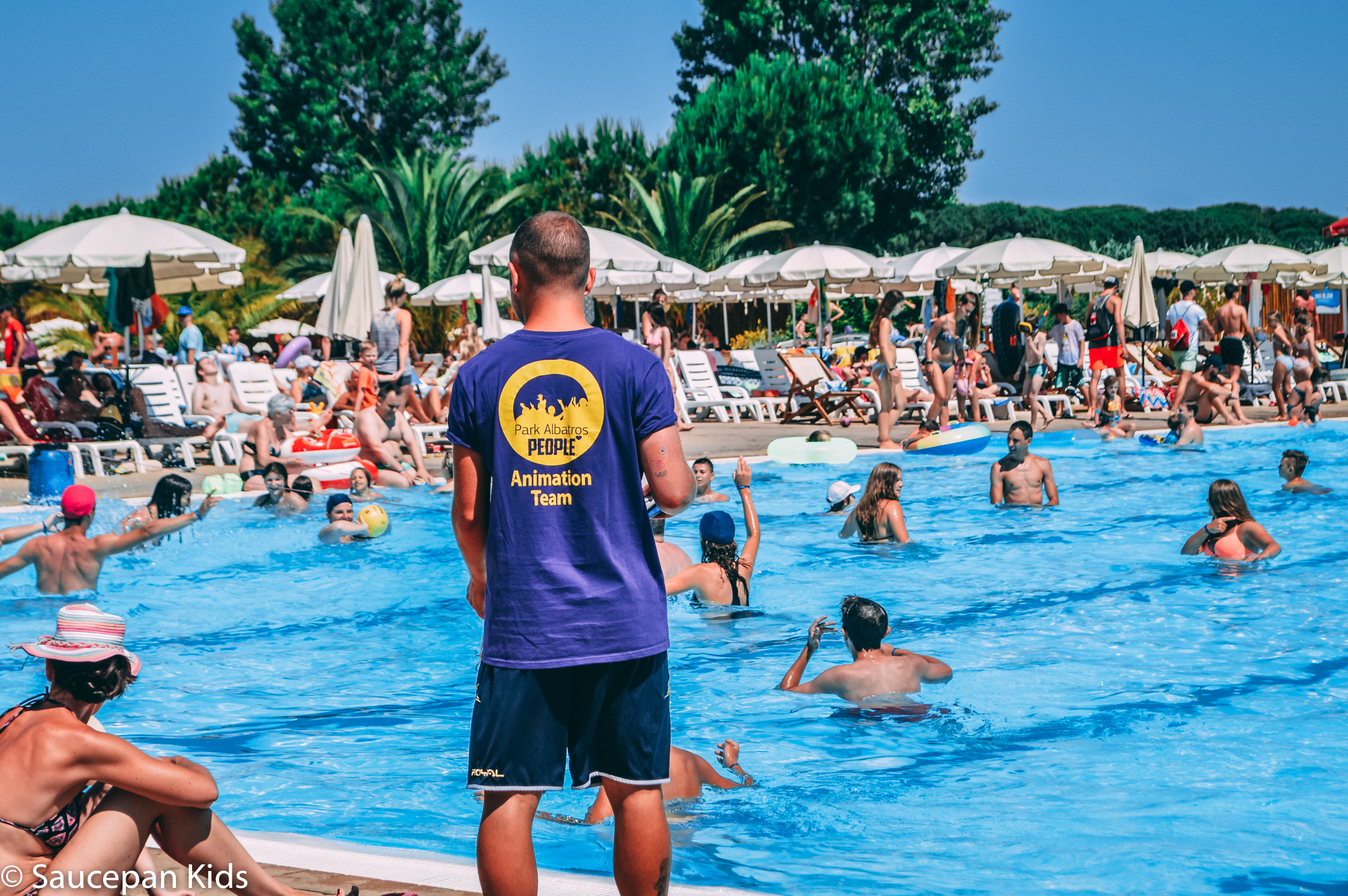 Saucepan Kids visit and review Parc Albatros in Tuscany with Canvas Holidays 2017 - One of the five pools