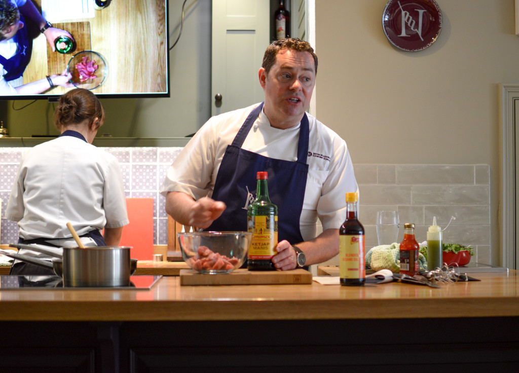 Neven Maguire giving cookery demonstration