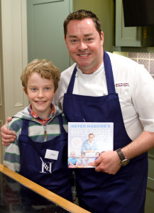 Getting a signed cookbook from Neven Maguire