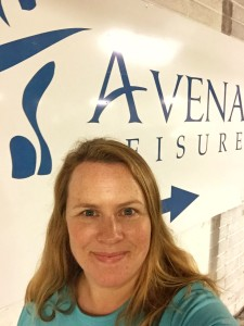 Debbie Woodward - working out at Avena Leisure Centre Sligo