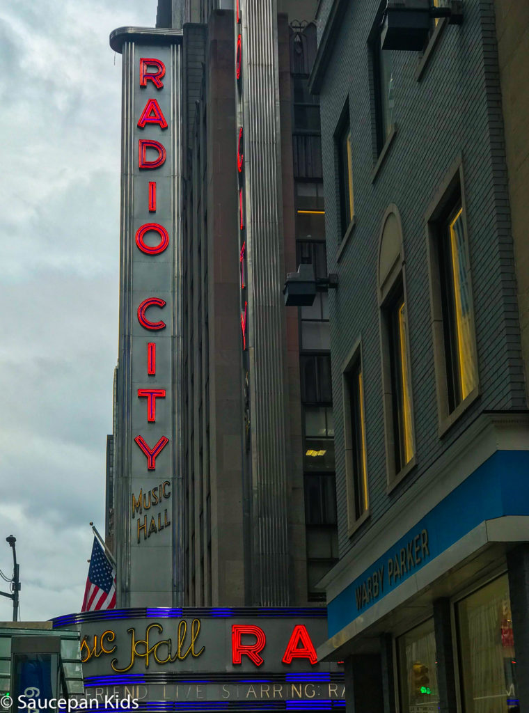 Saucepan Kids do the TV & Manhattan Movie Locations Tour with NBC Studio Tour with Take Walks NYC - Top things to do with kids in New York - Family friendly things to do in New York - Radio City Music Hall