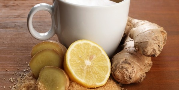 lemon ginger cold remedy