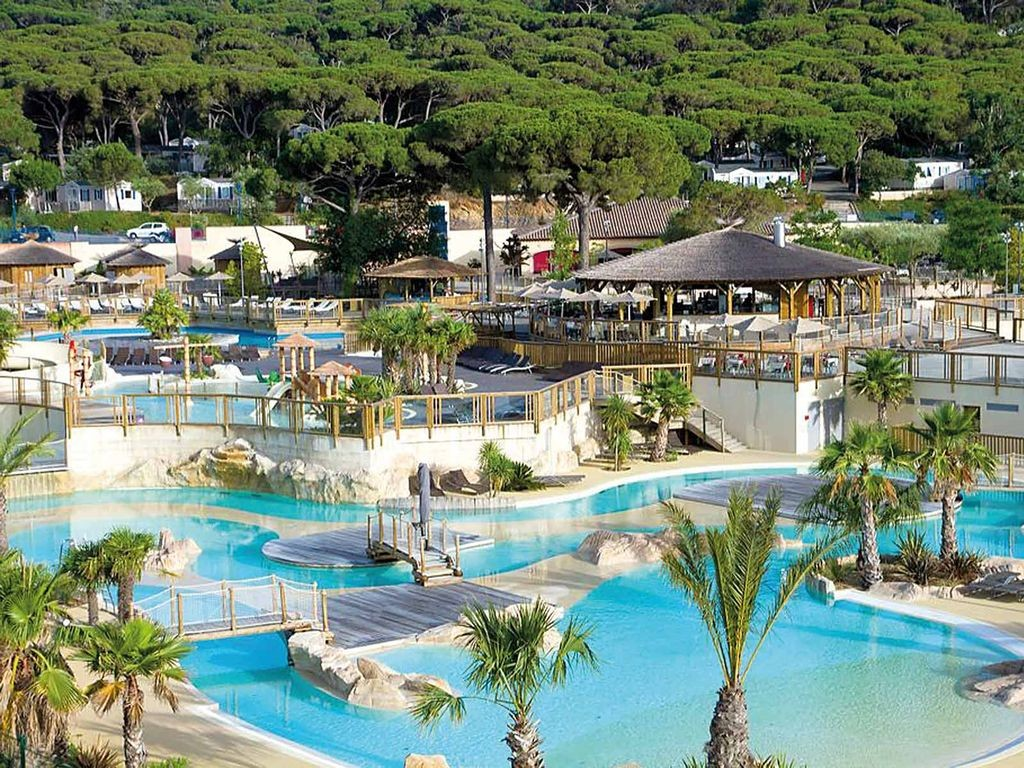 The outdoor lagoon at Les Tournels, Ramatuelle, South of France family camping with Saucepan Kids - Image courtesy of Yelloh Village website