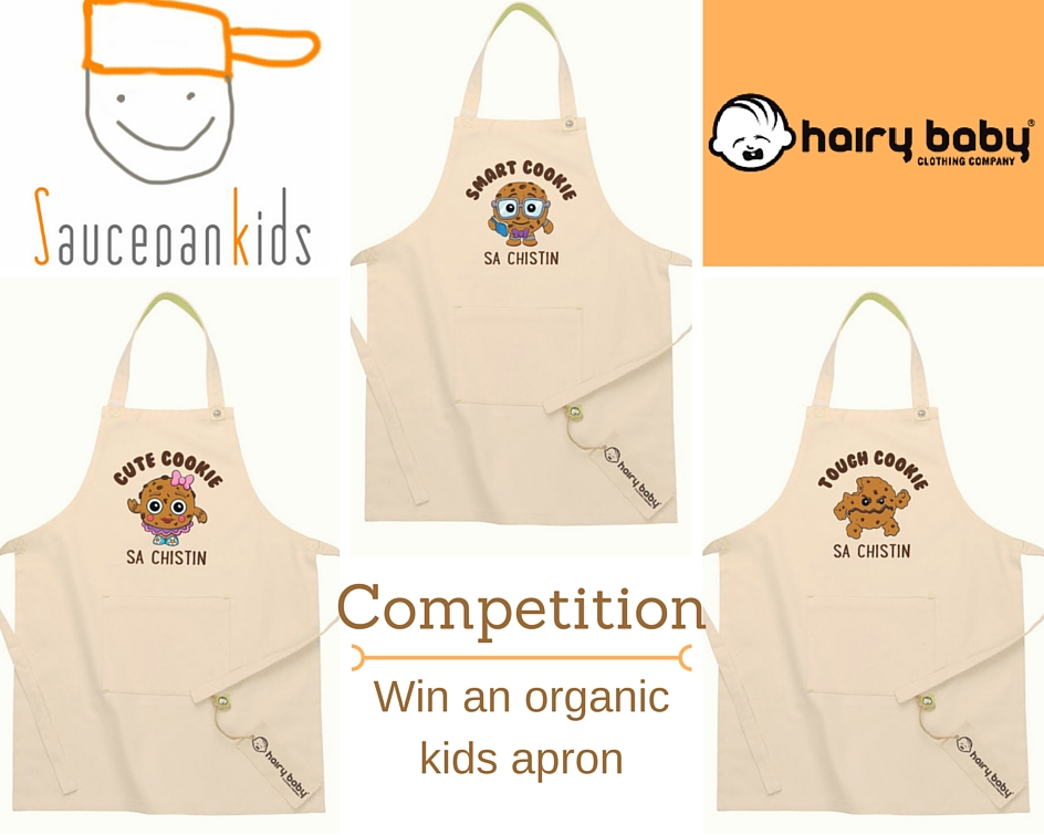 Saucepan Kids hosts a Hairy Baby competition to win an organic kids apron