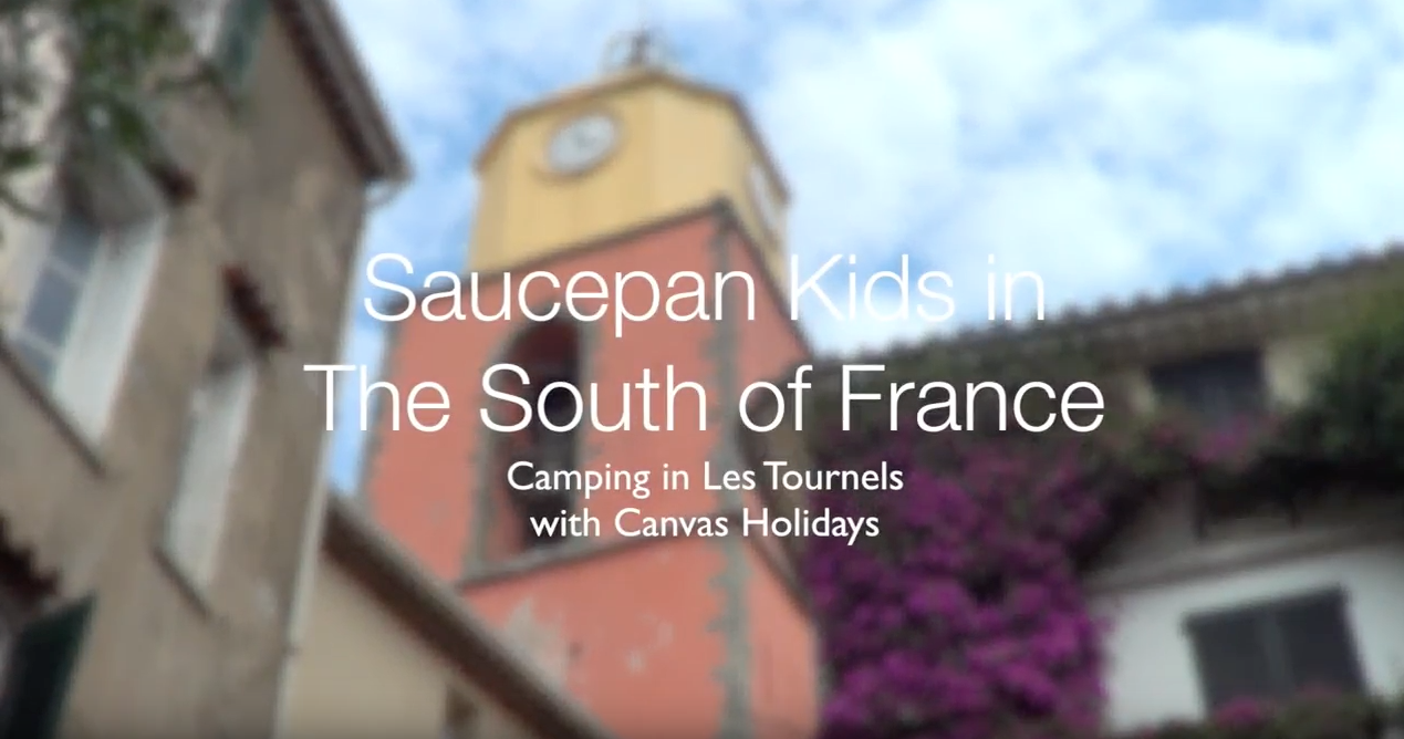 Saucepan Kids family camping in Les Tournels Ramatuelle South of France