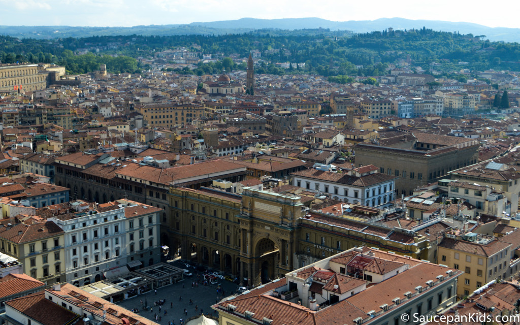 The view from the top of the Bell Tower in Florence, Italy