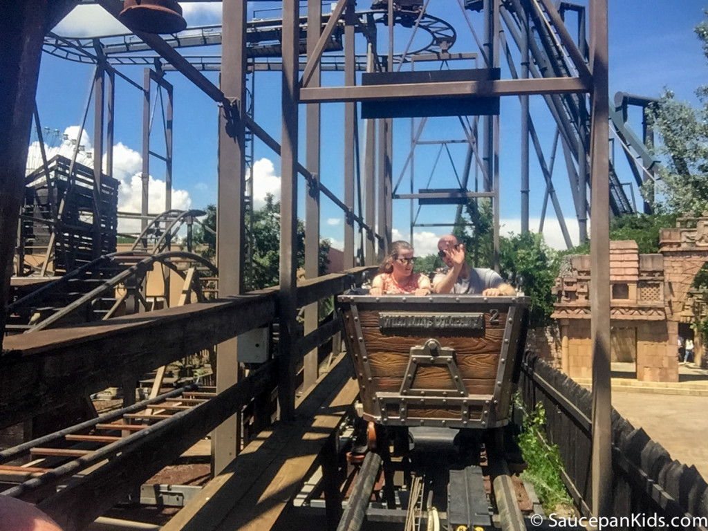The gold digger rollercoaster in Mirabilandia theme park - Things for families to do in Emilia-Romagna Italy - Saucepan Kids
