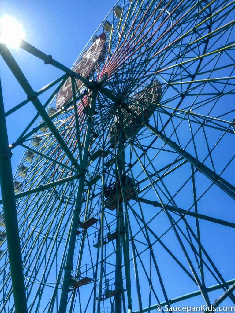 The ferris wheel in Mirabilandia theme park - Things for families to do in Emilia-Romagna Italy - Saucepan Kids