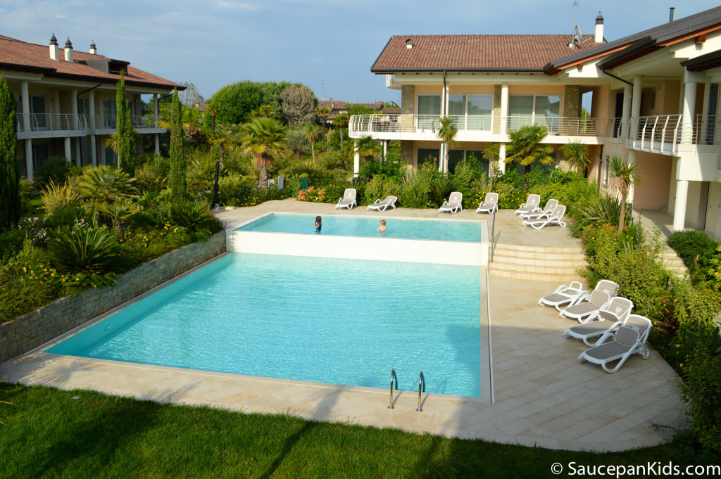 The pool at the Halldis apartment in Sirmione - Family friendly accommodation in Lake Garda Italy