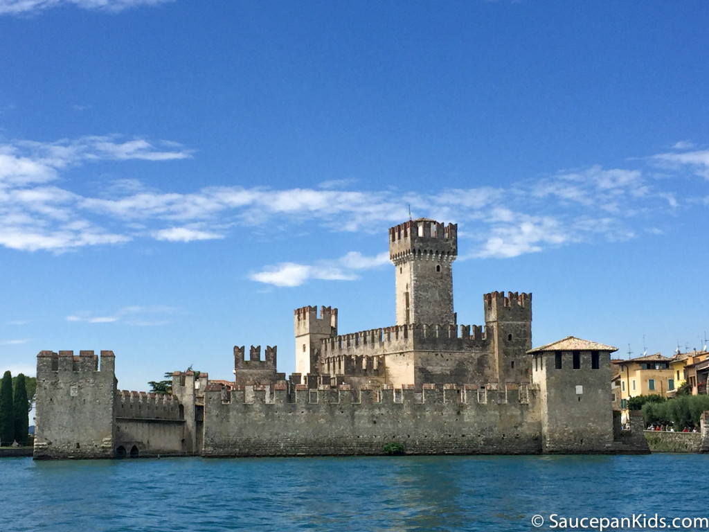 The castle at Sirmione Lake Garda, Italy - Things to do with kids at Lake Garda