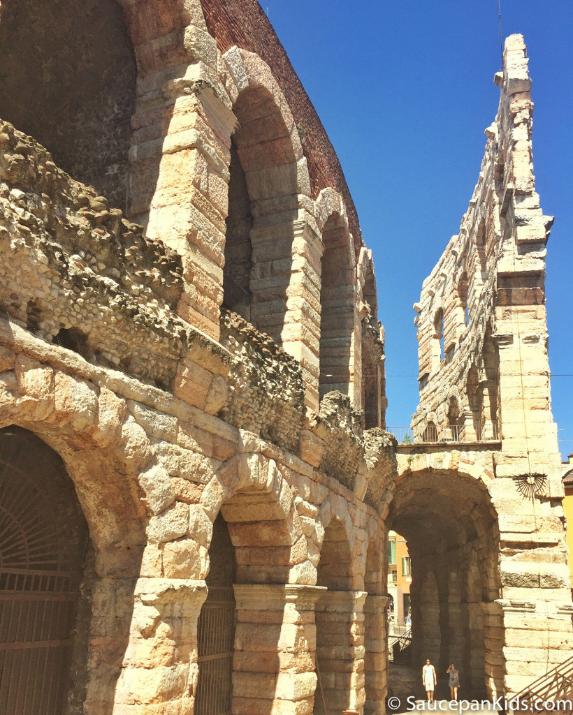 Amphitheater in Verona - Things to do with kids in Lake Garda - Saucepan Kids