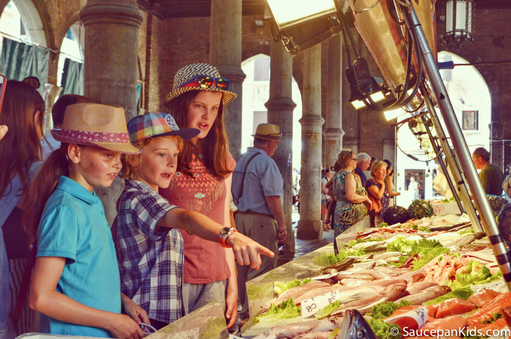 The Rialto food market in Venice, Italy - Saucepan Kids - things to do with kids in Venice