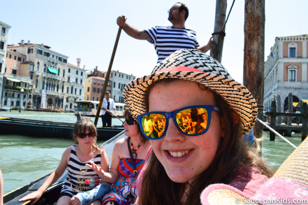Trying out a traghetto - Saucepan Kids - things to do in Venice with kids