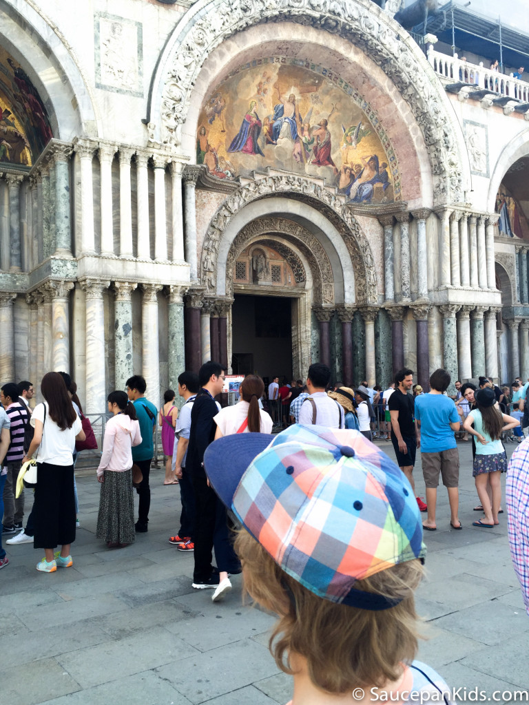 St. Mark's Basilica in St. Mark's square Venice Italy - Saucepan Kids - things to do in Venice with kids