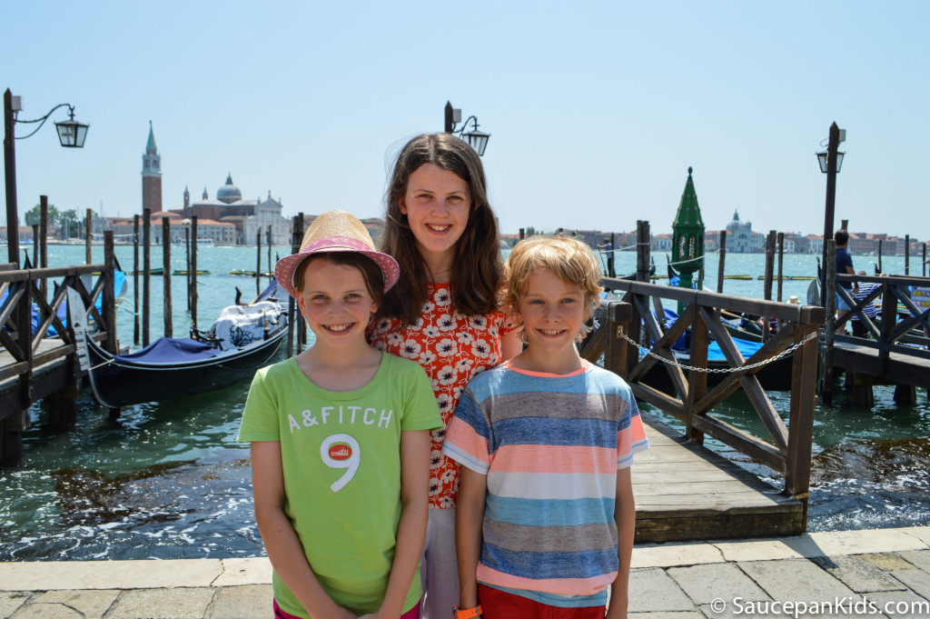 Saucepan Kids loving Venice, Italy - things to do in Venice with kids