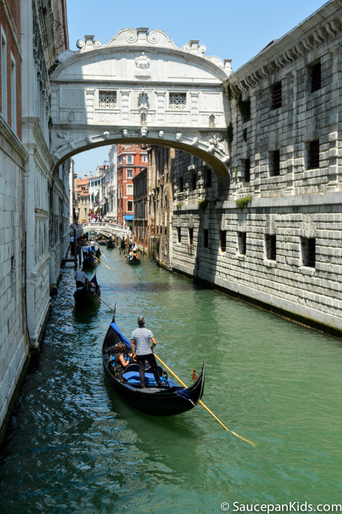 The Bridge of Sighs in Venice, Italy - things to do with kids in Venice