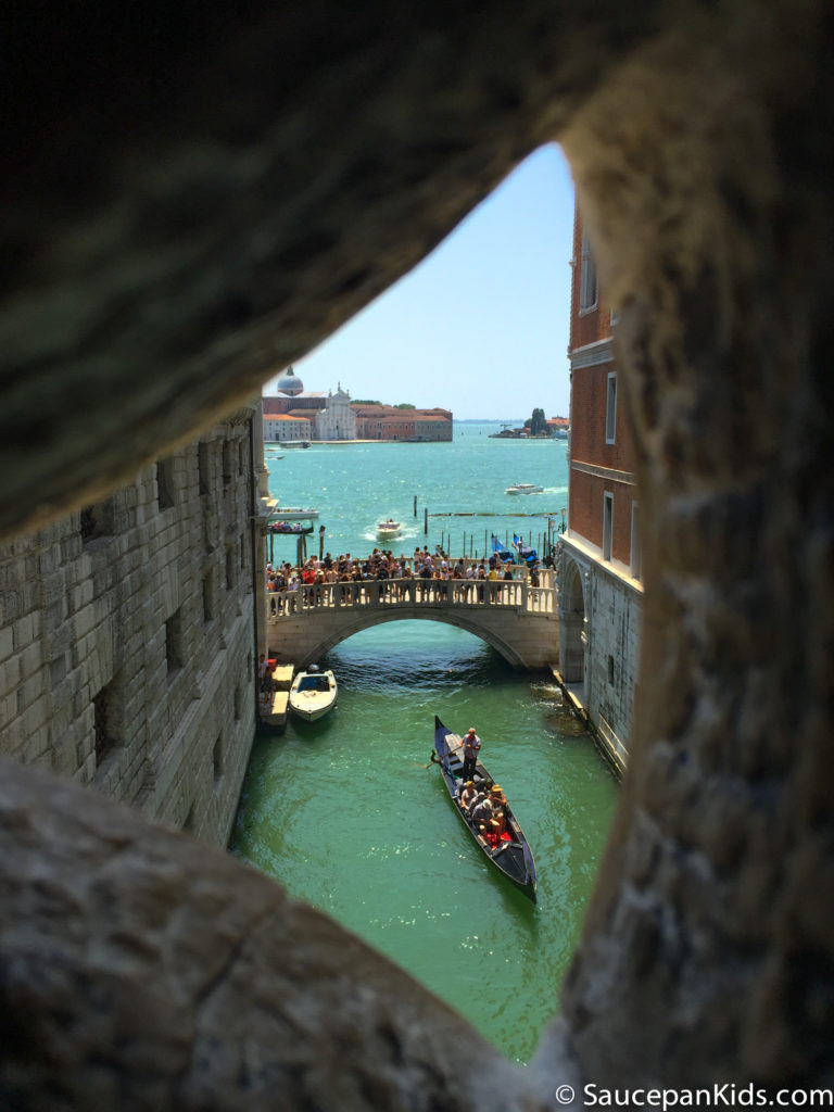 The Bridge of Sighs from the inside
