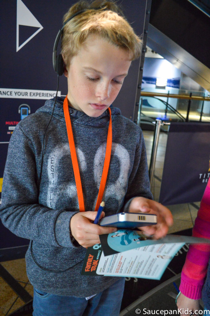 Titanic Belfast - The interactive audio guides for kids - - Things for kids to do in Belfast