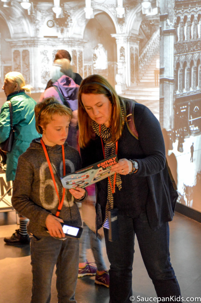 The interactive galleries - Titanic Belfast - The interactive audio guides for kids - - Things for kids to do in Belfast
