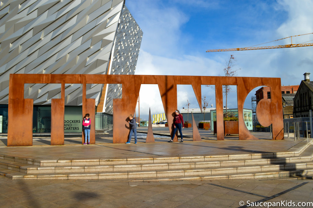 Outside the Titanic Belfast - Things for kids to do in Belfast