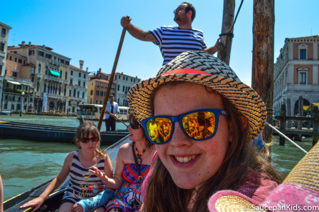 Across the Grand Canal on a gondola - sort of...