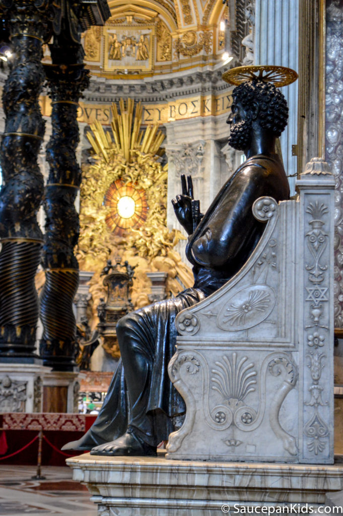 The man himself, Saint Peter, holding the keys of heaven, in St Peter's Basilica