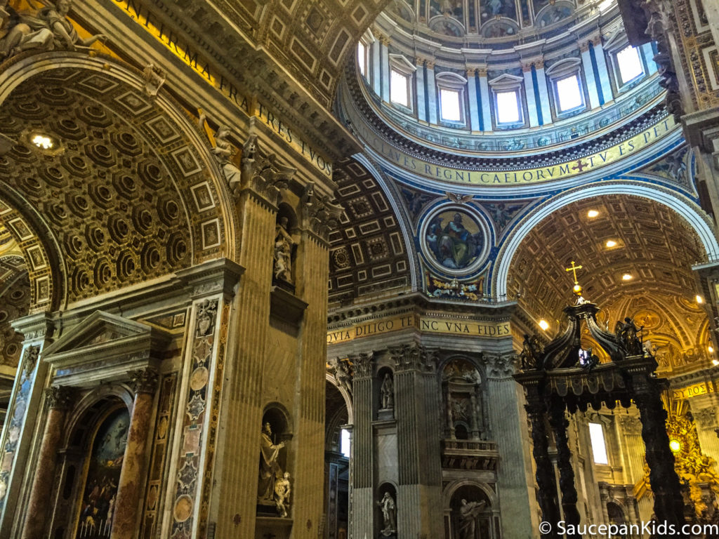 The amazing architecture and decor of St Peter's Basilica