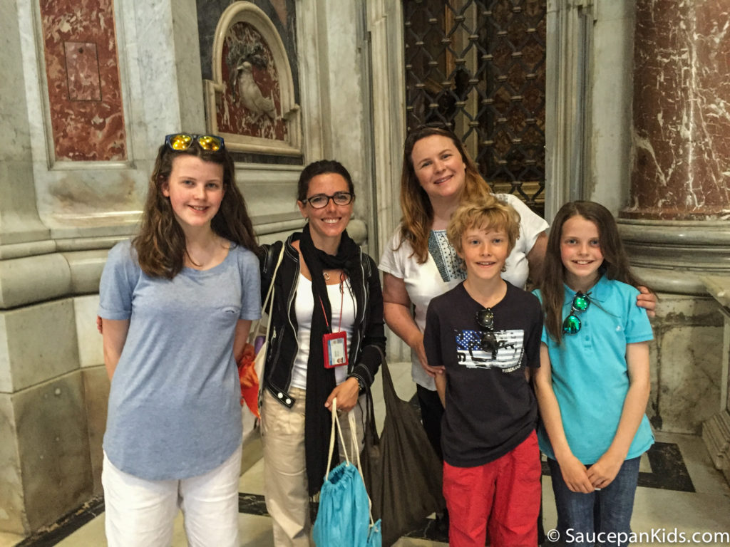 The Saucepan Kids with Cecilia, our tour guide from Walks of Italy