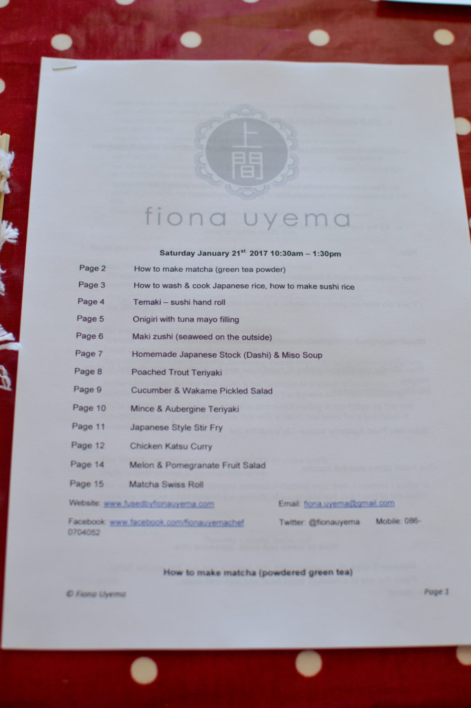 Fiona Uyema Japanese hands on cooking class itinerary by Debbie Woodward Saucepan Kids