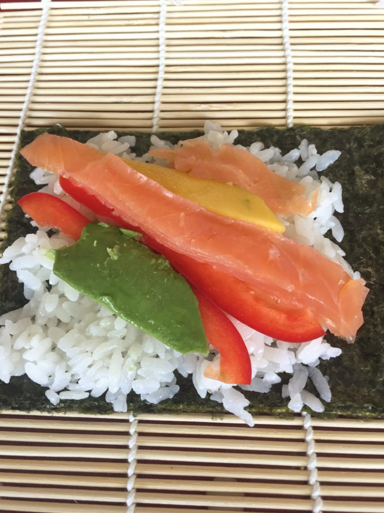 Making sushi at Fiona Uyema's Cooking Class - review by Debbie Woodward Saucepan Kids