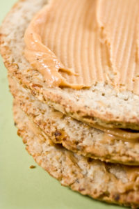 Nairn Rough Oatcakes & Biona Peanut Butter - the perfect high protein snack - Debbie Woodward Saucepan Kids