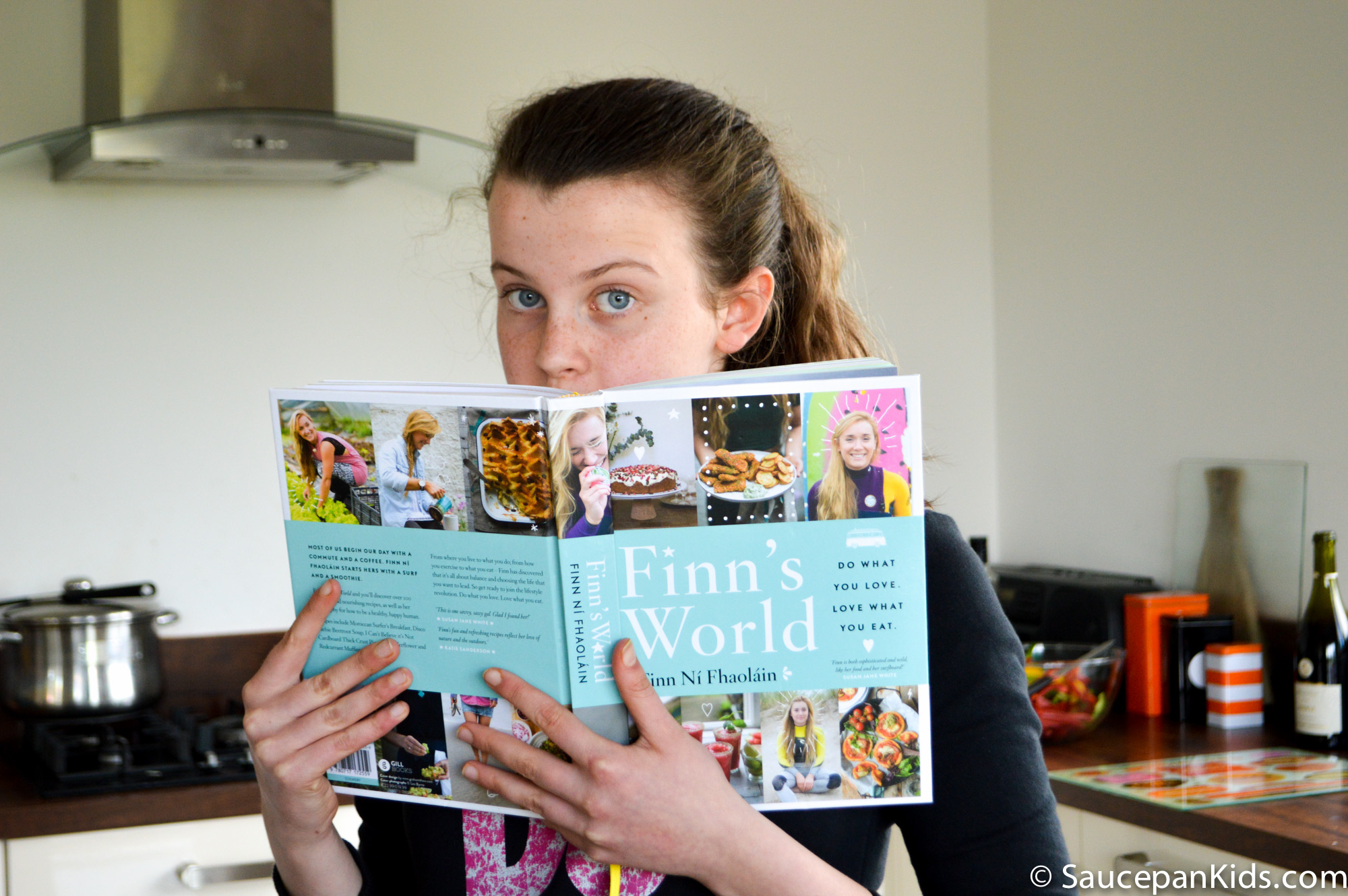 Saucepan Kids review Finn's World Cookbook by Gill Books - Review and Giveaway